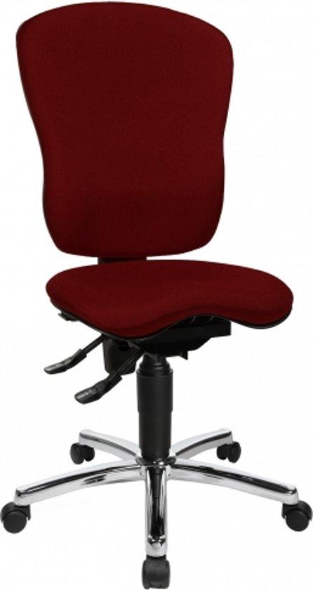 Topstar Sitness - Bureaustoel - Ergonomisch -  Zonder armleuningen - Donkerrood / bordeaux