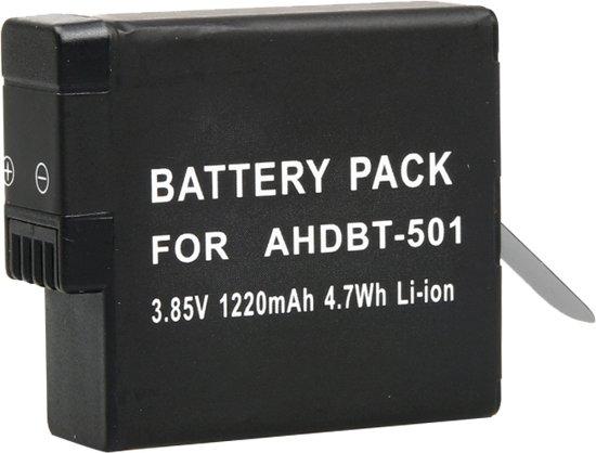 3.85V 1220mAh 4.7Wh Li-ion batterij voor GoPro HERO5