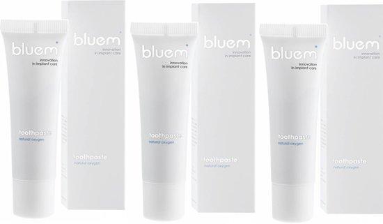 Foto van Bluem mini tandpasta - 3 stuks - voordeelverpakking
