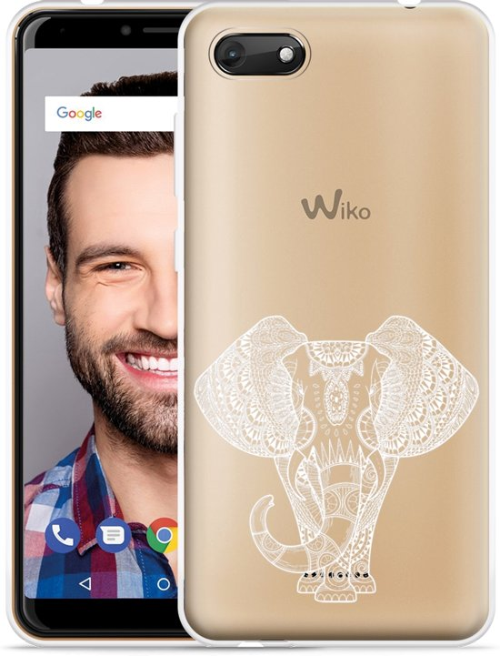 Wiko Harry 2 Hoesje Elephant Mandala White