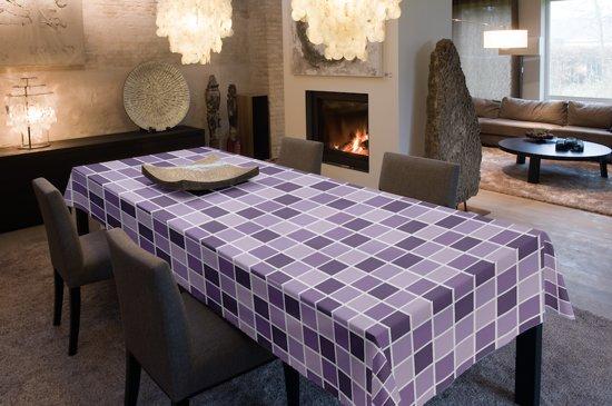 Joy@home Tafellaken - Tafelkleed - Tafelzeil - Blocs Paars