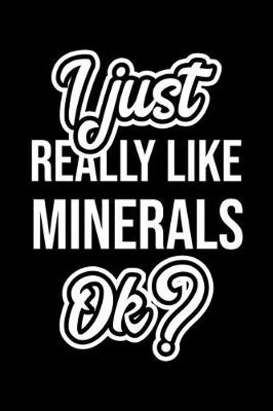 I Just Really Like Minerals Ok?: Christmas Gift for Minerals lover - Funny Minerals Journal - Nice 2019 Christmas Present for Minerals - 6x9inch 120 p