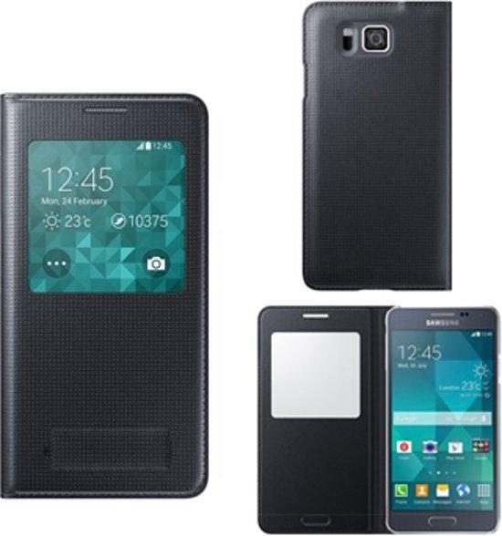 low priced d74fb 16bc1 bol.com | Samsung Galaxy Alpha S-View Cover Telefoonhoesje Zwart