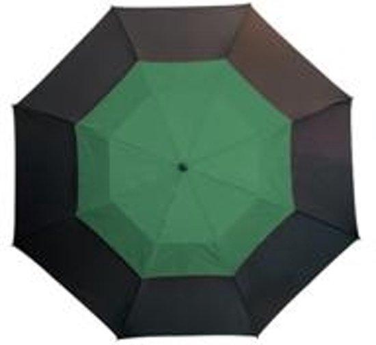 Golfparaplu met ventilatiesysteem(zwart/groen)