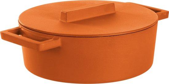 Braadpan Oranje 30 cm x 25 cm incl deksel - Sambonet