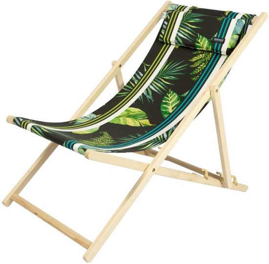 Kleine Inklapbare Strandstoel.Maximavida Kleine Strandstoel Leaf Inclusief Hoofdkussen Handzaam Reismodel