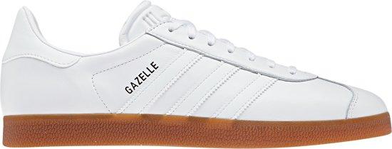 adidas Gazelle Sneakers - Maat 38 2/3 - Unisex - wit/bruin