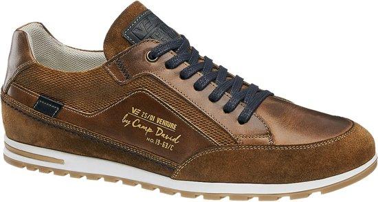 Venture By Heren Bruine VetersluitingMaat David 42 Leren Sneaker Camp OuTZiPkX