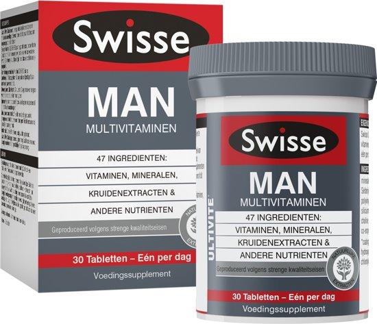 Swisse multivitaminen Man - 30 stuks - Voedingssupplement