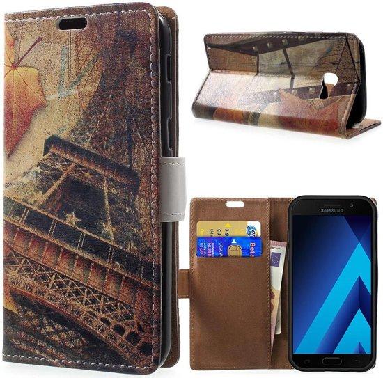 Tour Eiffel Design Portefeuille Tpu Pour Samsung Galaxy A5 (2017) DDznj3S