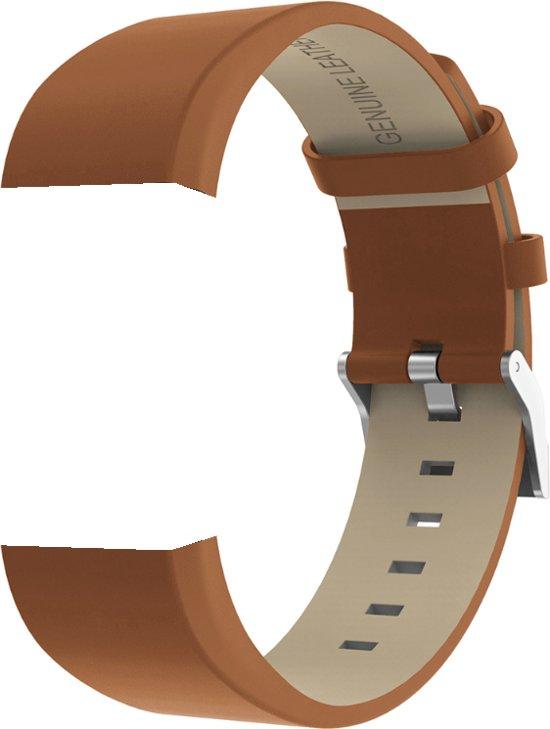 Leren band voor Fitbit Charge 2 - Bandje van leer Fitbit Charge 2 - Bandje leather voor Fitbit Charge 2 - KELERINO - Bruin