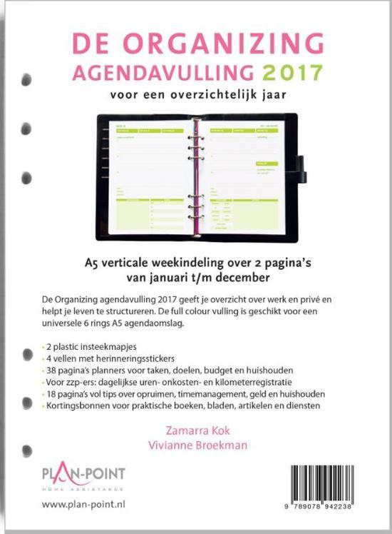 De organizing agendavulling 2017