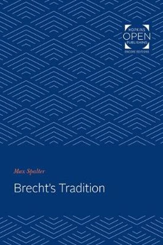 Brecht's Tradition