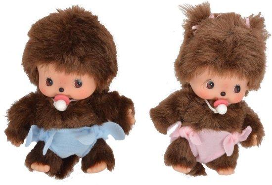 Bol monchichi cm baby jongen en meisje monchhichi