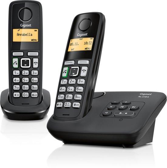 Gigaset AL220A - Duo DECT telefoon met antwoordapparaat - Zwart