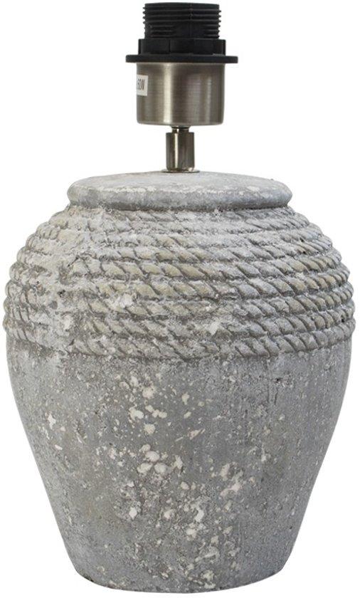 Mars & More - Lampen - Lampvoet vaas touw Terracotta grijs - 29cm
