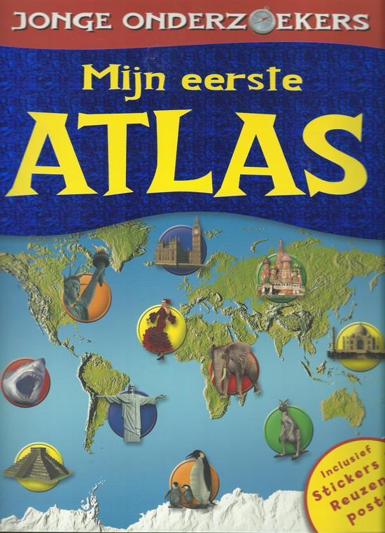Mijn eerste atlas stickers poster