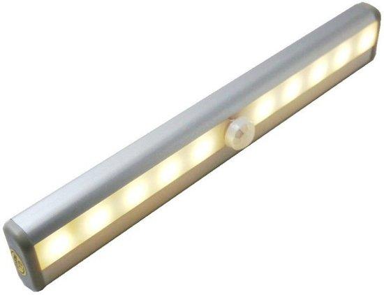 led keuken kast verlichting warm wit sensor oplaadbaar aluminium