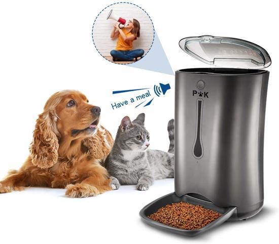 PetKing Luxe automatische voerder voor hond en kat met Timer en Stemrecorder, voerautomaat voerbak | voederapparaat | pet feeder | automatisch voeren eten geven