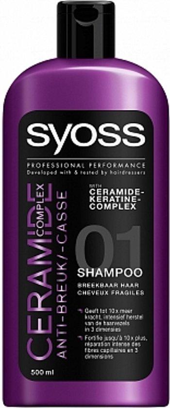 SYOSS Shampoo Ceramide 500 ml - 1 stuk - 100% kracht en professionele style controle