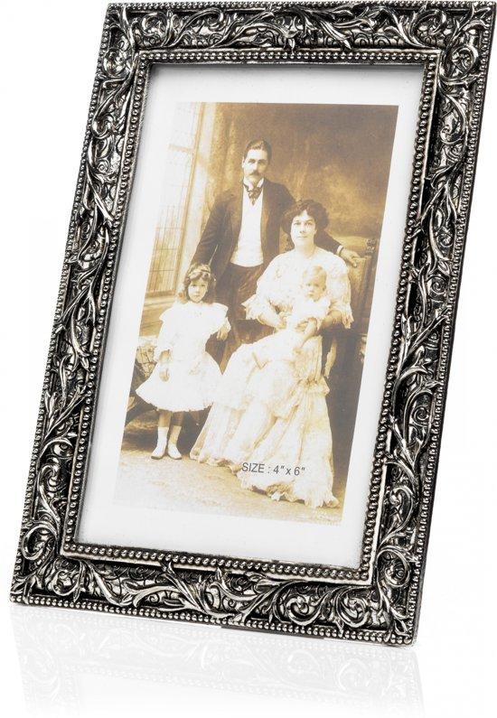 DFS Antiek Verzilverde Fotolijst Bloem 13x18 cm