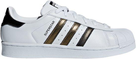 adidas sneakers blauw goud