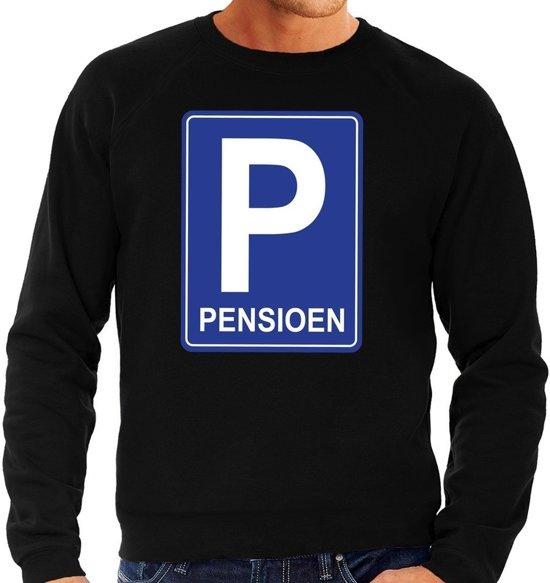 Pensioen P cadeau sweater zwart heren - Pensioen / VUT kado trui L