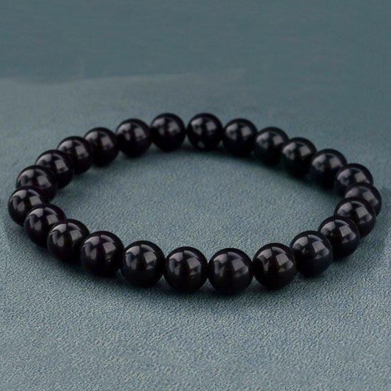 Victorious - Armband Zwarte Natuurstenen - Vanaf 16 cm