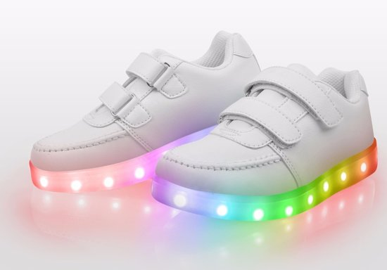 Kinderschoenen Met Lichtjes Maat 23.Bol Com Lichtgevende Disco Sneakers Schoenen Led Maat 32