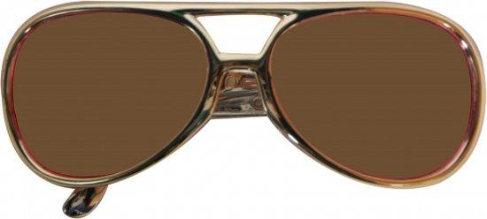 Elvis feest bril met gouden frame