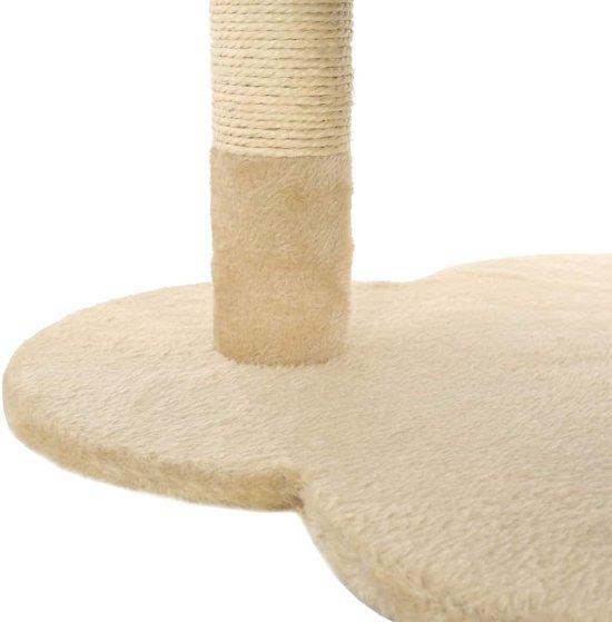 vidaXL Kattenkrabpaal met sisal krabpaal 50 cm beige en bruin