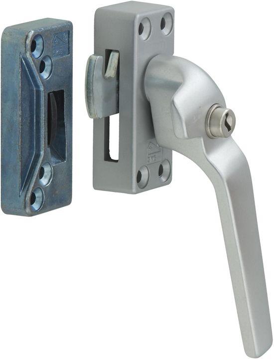 Nemef 53PK/4 rechts - Veiligheidsraamsluiting - Voor ramen - SKG* - Afsluitbaar met sleutel - Haakschoot - In zichtverpakking met stap-voor-stap montagehandleiding en bevestigingsmateriaal