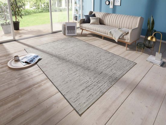 Binnen & buiten vloerkleed Laval Elle Decor - grijs 192x290 cm