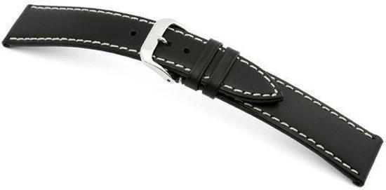 Rios1931 Horlogeband -  Pensa Zwart - Leer - 18 mm