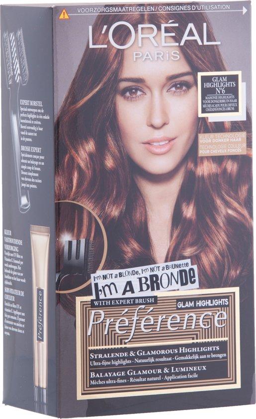 New bol.com | L'Oréal Paris Préférence Glam Bronde 6 - Mahonie - Haarverf &WK95