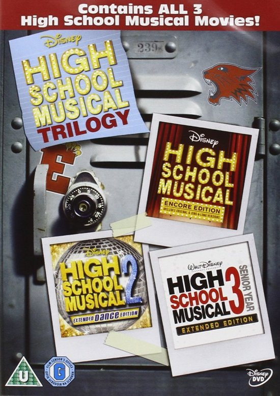 DVD cover van High School Musical - 1 t/m 3 (Import)