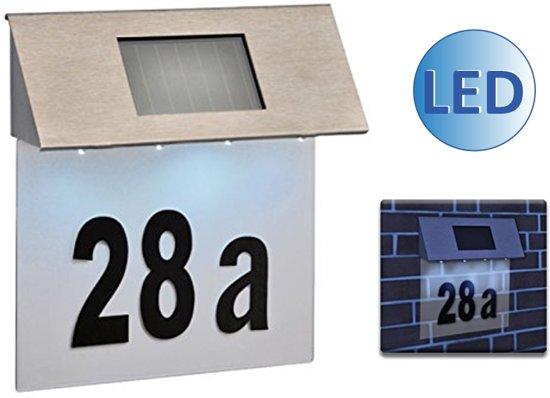 Solar led huisnummerbord for Huisnummerbord maken