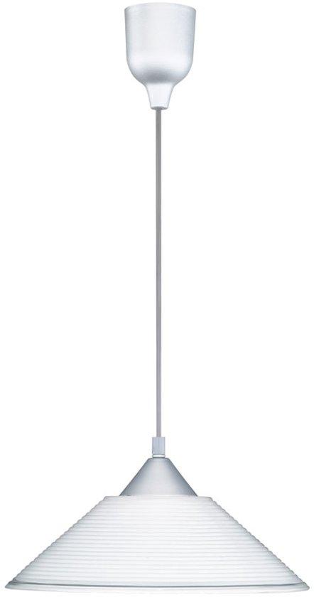 Trio Serie 3014 Hanglamp 1x60W Aluminium Wit 301400101