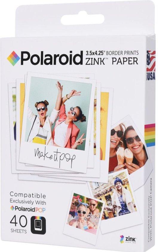 Polaroid ZINK fotopapier 3.5x4.25 inch - 40 stuks