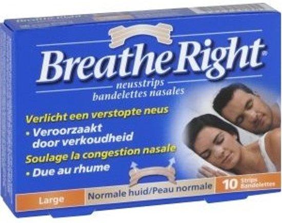 Breathe Right Large - 10 stuks - Neusstrips - huidskleurig