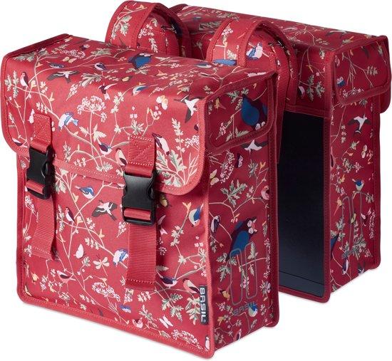 Basil Wander Double Bag Dubbele Fietstas 35 Liter Vintage Rood