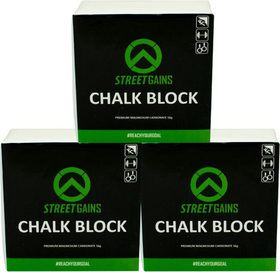 Magnesium Chalk Grip Blok 4X   StreetGains®