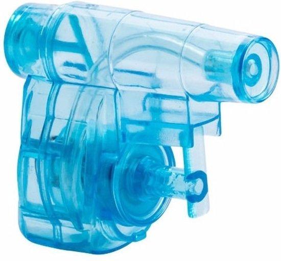 Mini waterpistolen blauw 3 stuks