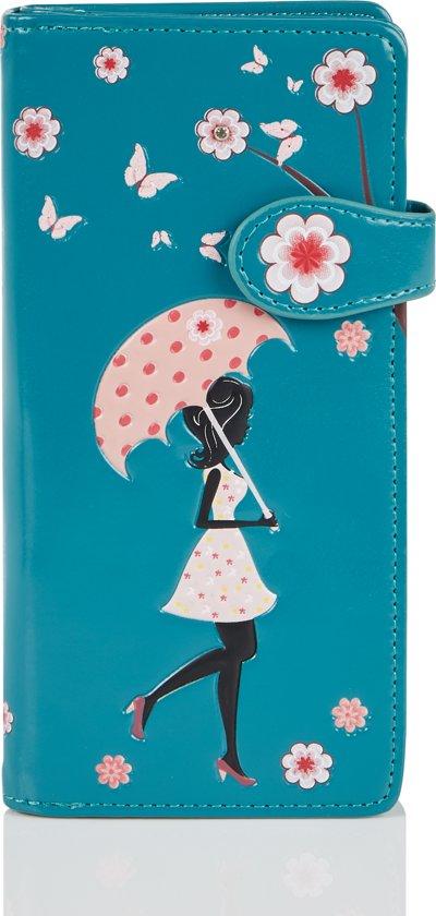 SHAGWEAR portemonnee Blossom shower turquoise - 0574Z
