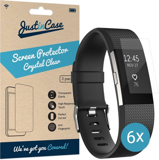 Just in Case Screen Protector voor Fitbit Charge 2 - Crystal Clear - 6 stuks