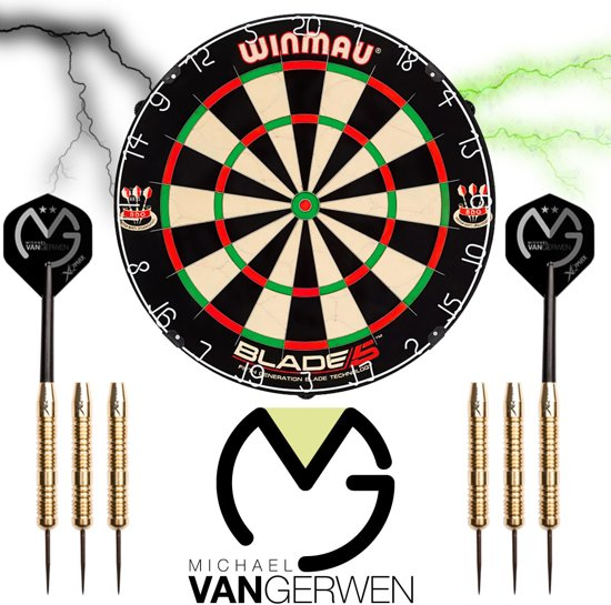 Winmau set - Blade 5 - dartbord - plus 2 sets - Michael van Gerwen dartpijlen - dartpijlen