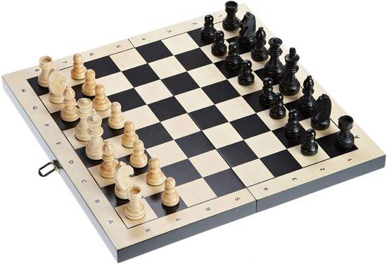 Philos 3-1 set 44mm lindehout - Backgammon, schaken en dammen