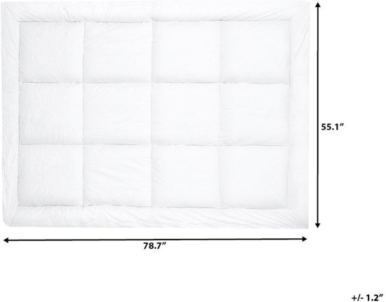 Beliani Yangra Matrastopper Wit Stof 140 x 200 cm