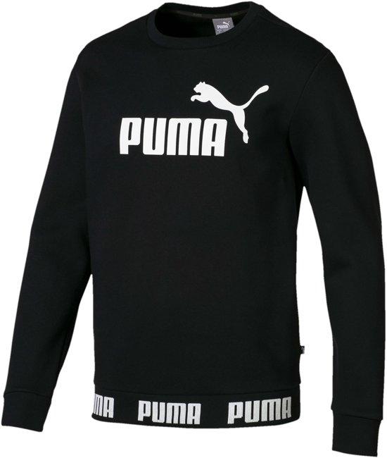 a87743d36c5 Puma Amplified Crew Fleece Sporttrui - Maat M - Mannen - zwart/wit