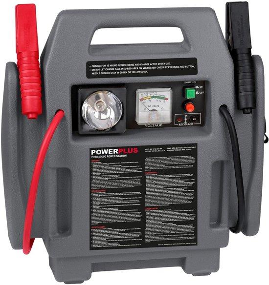 Powerplus POWE80090 Jumpstarter 4-in-1 (voeding met 12V-uitgang/starthulp/compressor/licht) - Max. 17 bar